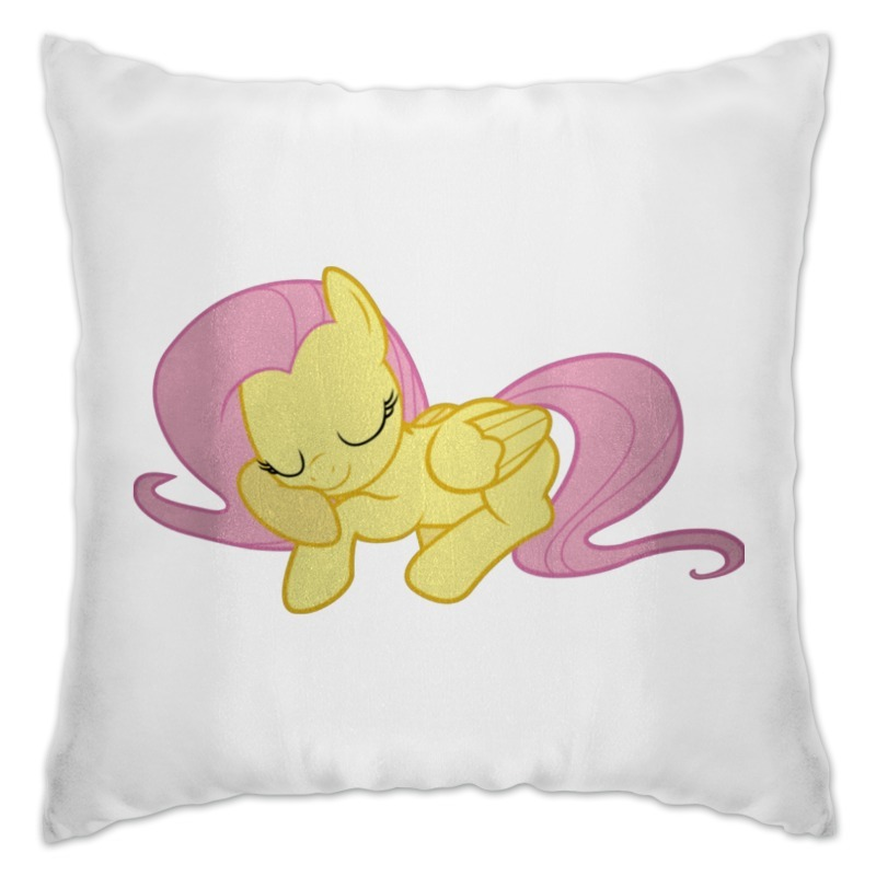 Подушка Printio Fluttershy pillow good quality letters pattern printed linen cotton pillow case(without pillow inner)