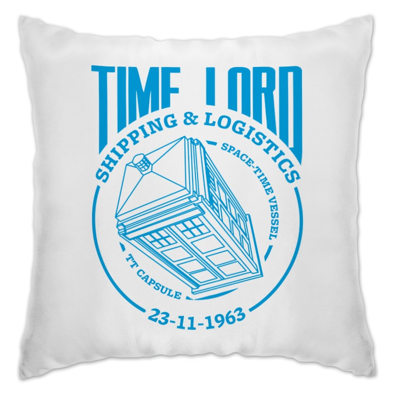 Подушка Printio Time lord экспедиция подушка подголовник time out