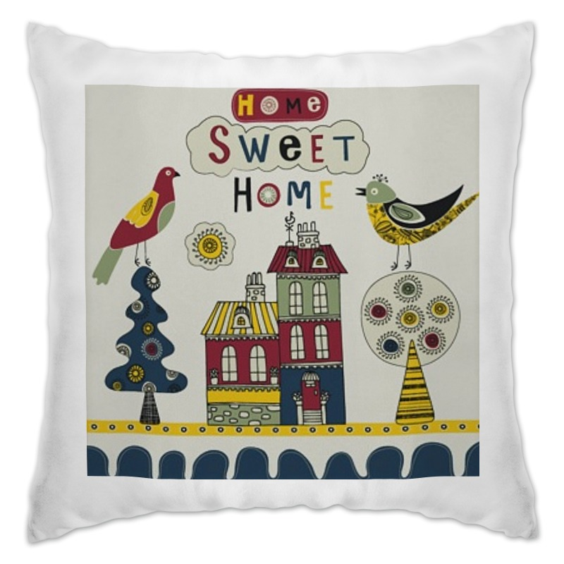 Подушка Printio Home sweet