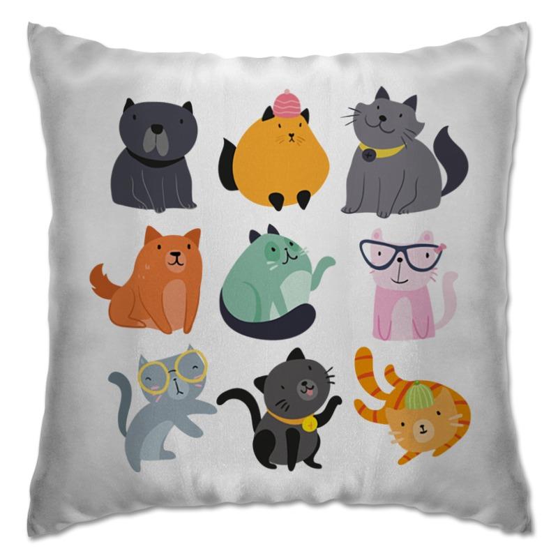 Подушка Printio Цветные кошки все цены