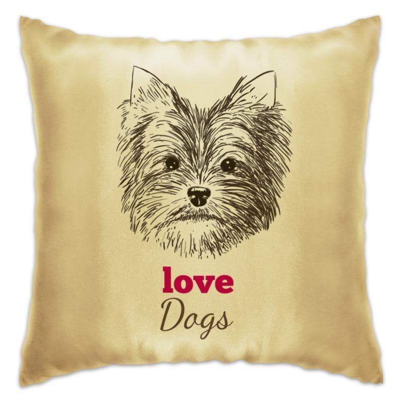 Подушка Printio Я люблю свою собачку