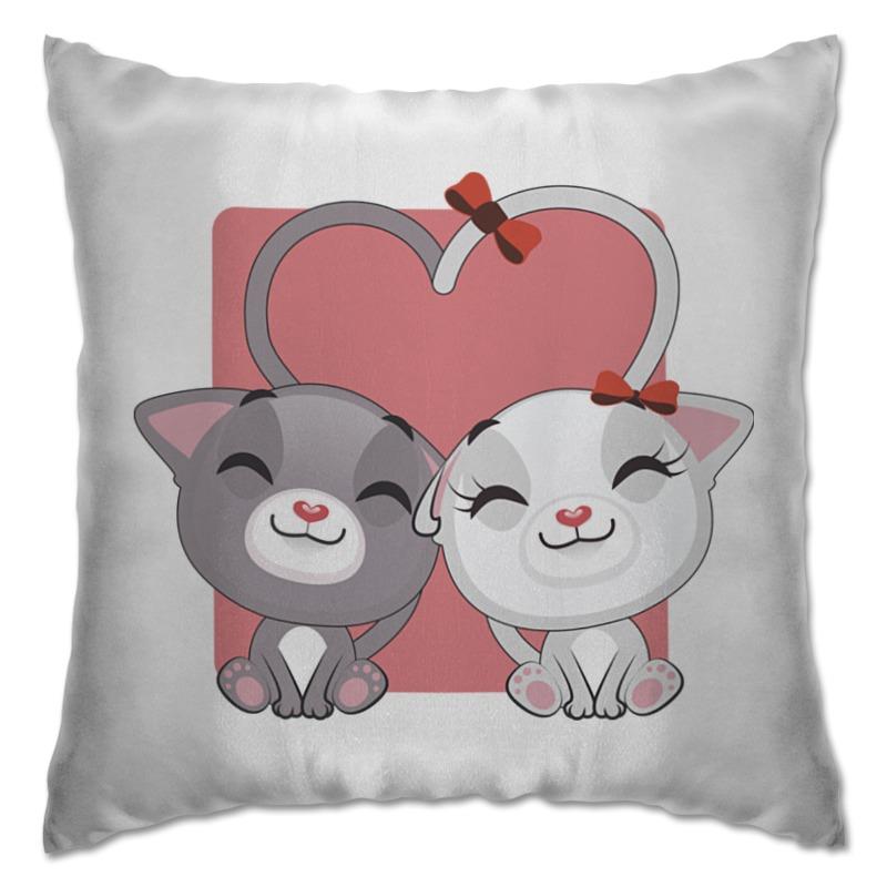 Подушка Printio Кошки в любви все цены