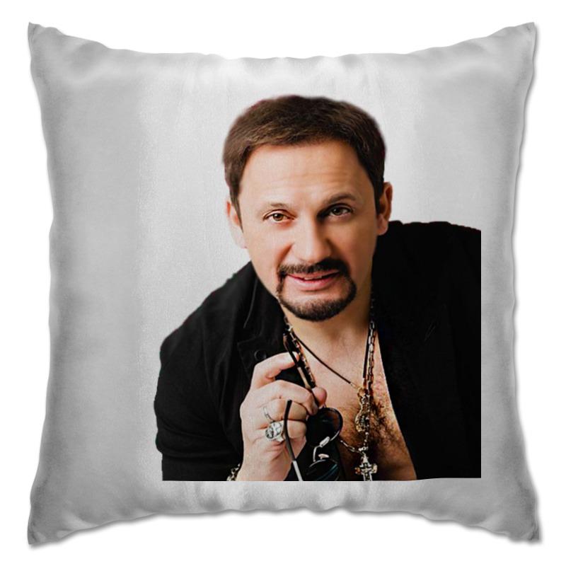 Подушка Printio Стас михайлов. в черной рубашке. очень красивый!