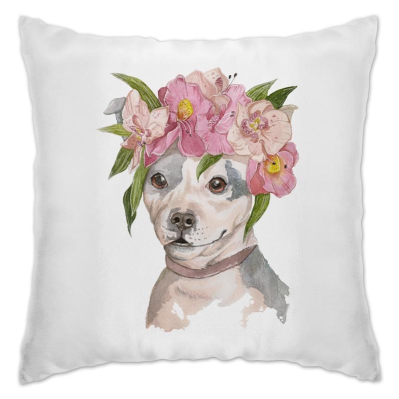 Подушка Printio Собака в цветах подушка printio ландыши