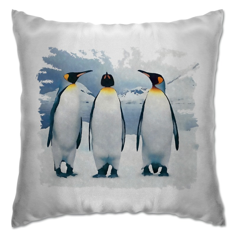 Подушка Printio Три пингвина