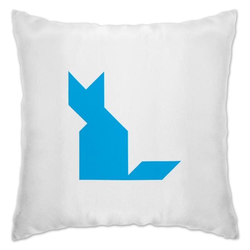 Подушка Printio Голубая кошка танграм