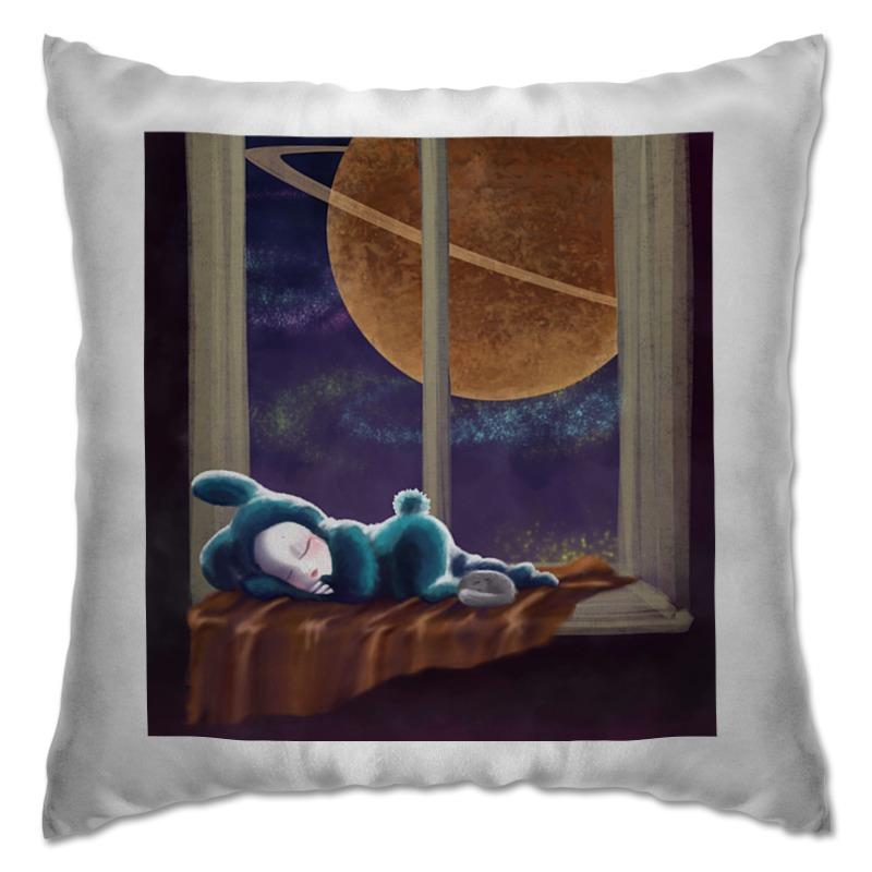 Подушка Printio Спокойный сон все о зайке
