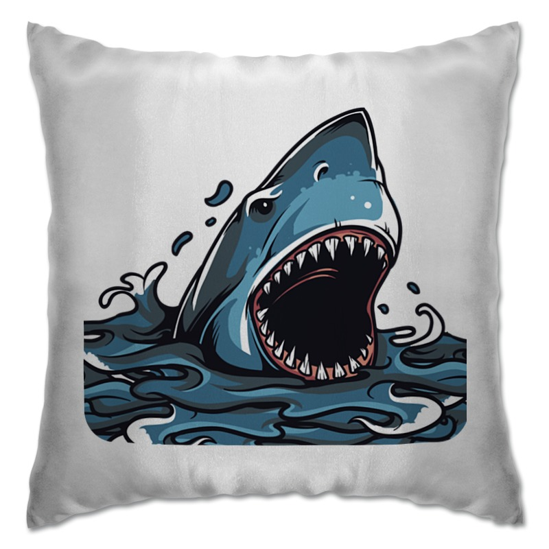 Подушка Printio Акула серова м клад белой акулы