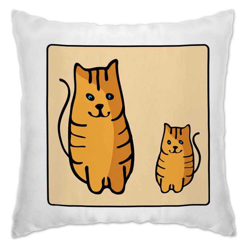 Подушка Printio Два котика, смотрящие друг на друга неизвестный друг