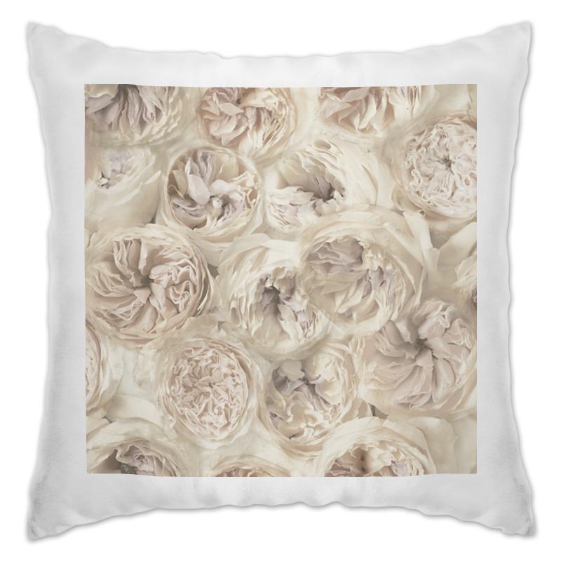Подушка Printio Белые цветы