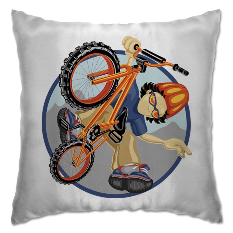 Подушка Printio Велосипед qian xu паук подушка мягкий велосипед седло мат горный велосипед дорога велосипед горный велосипед комфорт велосипед подушка покры