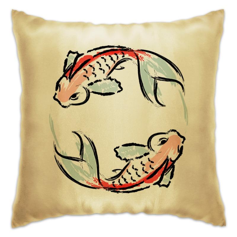 Подушка Printio Знак зодиака рыбы фигурка сувенирная знак зодиака рыбы 798585