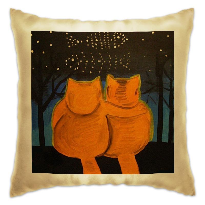 Подушка Printio Cats in love