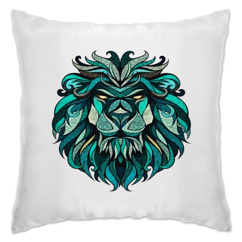 Подушка Printio Расписной лев