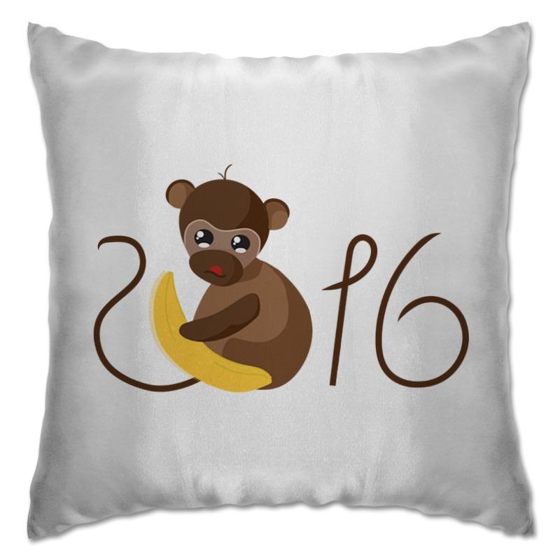 Подушка Printio Обезьянка биззи 2016 футболка wearcraft premium slim fit printio обезьянка биззи 2016
