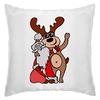 """Подушка """"Дед мороз с оленем"""" - праздник, новый год, радость, дед мороз, олень"""