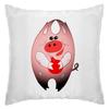 """Подушка """"Свинья держит в руках красный елочный шарик"""" - праздник, арт, новый год, елочная игрушка, год свиньи"""