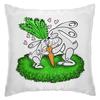 """Подушка """"Зайчишки с морковкой"""" - любовь, подарок, морковка, влюбленность, зайчишки"""