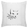 """Подушка """"Кошка"""" - кошка, рисунок, графика, минимализм"""