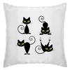 "Подушка ""Кошки 7"" - кошки, чёрная кошка, зелёные глаза, рисунок"
