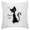 """Подушка """"Кот-анархист"""" - кот, юмор, рисунок, графика, анархист"""