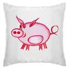"""Подушка """"Розовый поросенок"""" - арт, счастье, малыш, свин, розовый поросенок"""