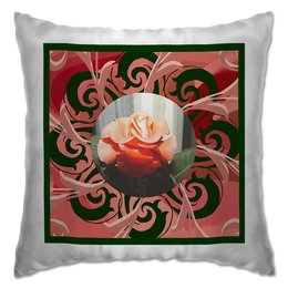"""Подушка """"Сердце розы."""" - узор, цветок, роза, розы, шик"""