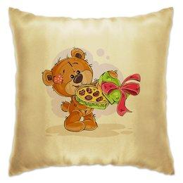 """Подушка """"Подарочная"""" - конфеты, сладости, подарок, день рождения, мишка тэдди"""