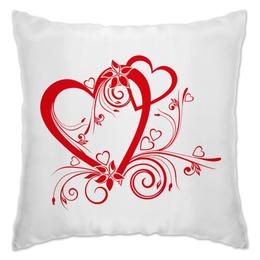 """Подушка """"Я Люблю Тебя"""" - любовь, сердца"""