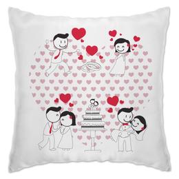"""Подушка """"Свадьба"""" - любовь, свадьба, семья, сердечки, пары"""
