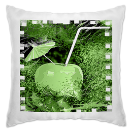 """Подушка """"Яблочный микс"""" - напиток, абстракция, яблоко, фрукт, натюрморт"""