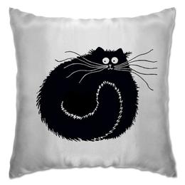"""Подушка """"котэ-ловец снов"""" - сон, в подарок, чёрный кот, уютный кот"""