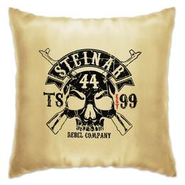 "Подушка ""Thor Steinar Brand"" - череп, бренд, brand, тор штайнер, thor steinar"