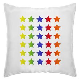 """Подушка """"Яркие звезды"""" - звезда, красный, зеленый, синий, цветной"""