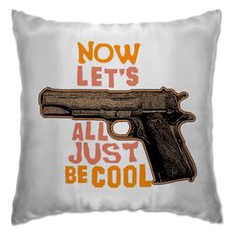 """Подушка """"Оружие арт"""" - арт, дизайн, оружие, ствол, пистлет"""