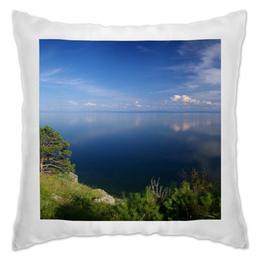 """Подушка """"Ляжите на эту подушку и вы окажитесь в озере """" - в подарок"""