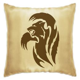 """Подушка """"Медведь"""" - медведь, животное, коричневый, лапы, бурый"""