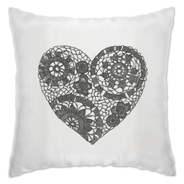 """Подушка """"Сердце """" - сердце, день святого валентина, с любовью, ручная работа, подарок любимой"""
