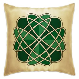 "Подушка ""Клевер удачи "" - узор, удача, орнамент, кельты"