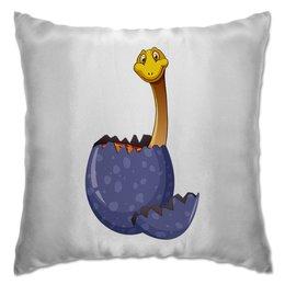 """Подушка """"Счастливое яйцо динозавра"""" - абстракция, динозавр, животное, яйцо, доисторический"""