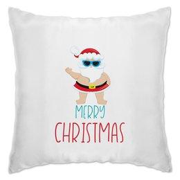 "Подушка ""Санта"" - новый год, рождество, снежинки, christmas, кристмас"