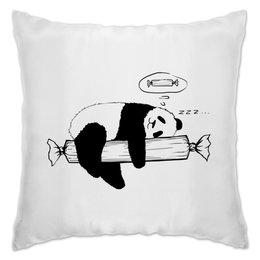 "Подушка ""Panda"" - sleep, панда, сон, panda, конфета"