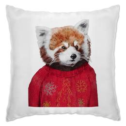 """Подушка """"Красная панда"""" - red, панда, panda, animal, красная панда, dressed"""