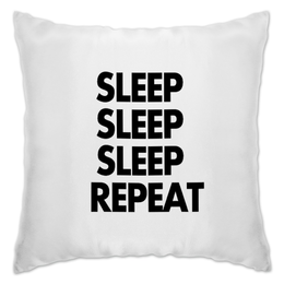 "Подушка ""SLEEP REPEAT by Brainy"" - sleep, brainy, brainystore, repeat, sleepsleep"