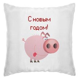 """Подушка """"Новый год"""" - кабан, свинка, свинья, поросенок, год кабана"""