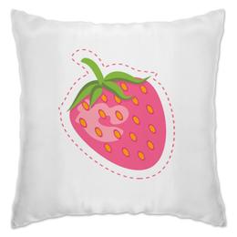 """Подушка """"Сладкая клубничка"""" - еда, ягоды, клубника, розовый, сладкий"""