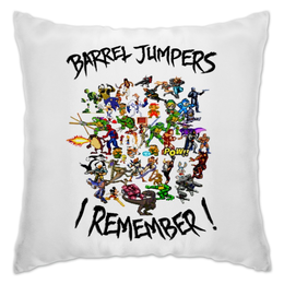 "Подушка ""Barrel Jumpers. I Remember!"" - games, sega, nes, iremember, barreljumpers"
