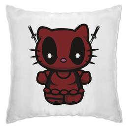 "Подушка ""Kitty Deadpool"" - кошка, китти, marvel, марвел, дэдпул"