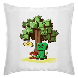 "Подушка ""Крипер. Майнкрафт"" - minecraft, майнкрафт, creeper, крипер, геймерские"