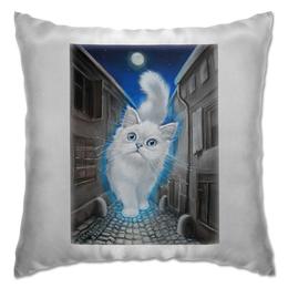 """Подушка """"ЛУННЫЙ КОТ"""" - кот, животные, сказка, рисунок"""